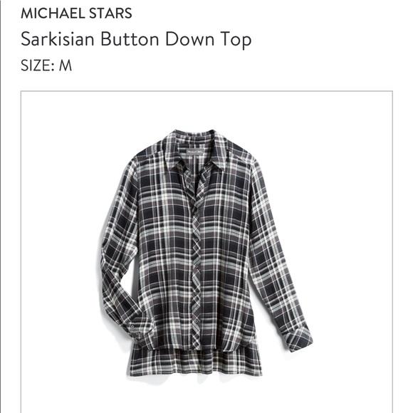 Michael Stars Tops - Michael Stars Plaid Button Down Shirt